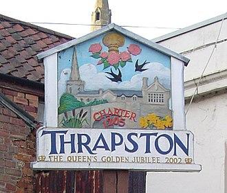 Thrapston - Town Sign
