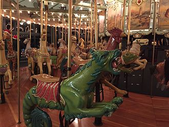 Tilden Park Merry-Go-Round - The Tilden Park Merry-Go-Round sea monster after being repainted in November 2015.