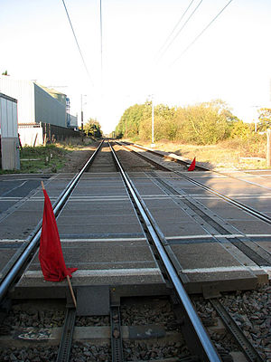 Tivetshall railway station - Station site in 2009.