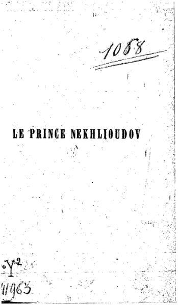 File:Tolstoï - Le Prince Nekhlioudov.djvu