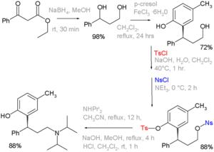 Tosyl - Tolterodine synthesis