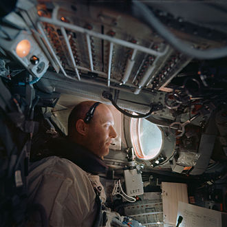 Gemini 9A - Tom Stafford inside the Gemini spacecraft