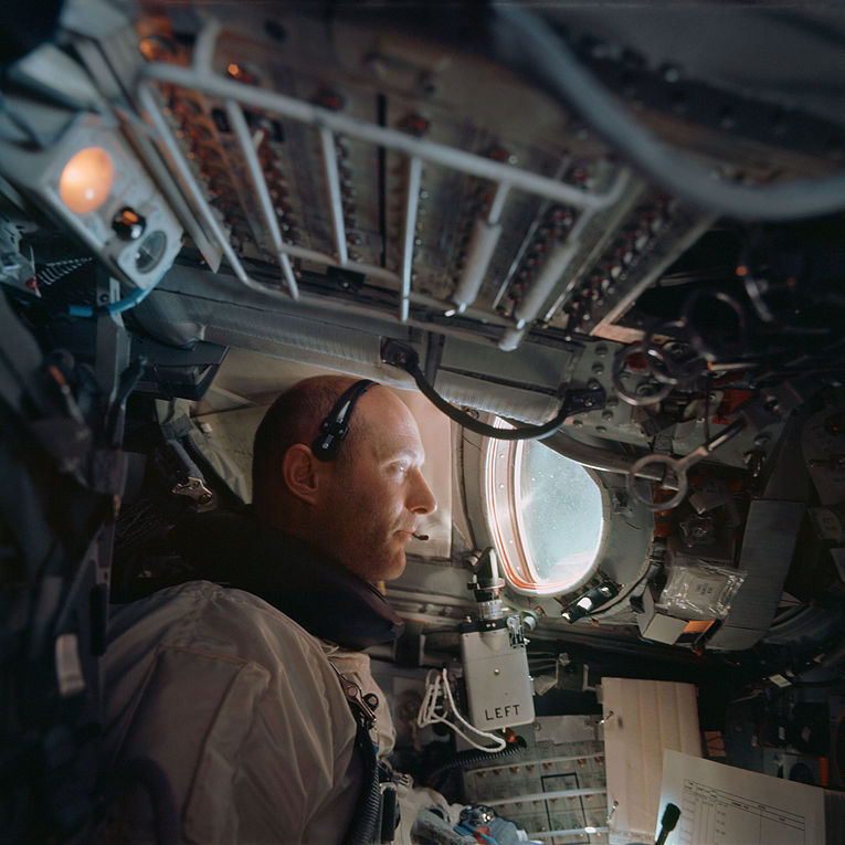 Tom Stafford inside Gemini IX spacecraft