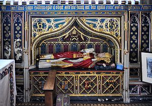 Hugh Oldham - Oldham's tomb in Exeter Cathedral