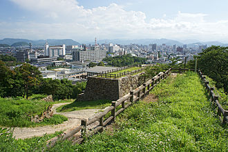 Tottori (city) - Skyline of Tottori City from Tottori Castle