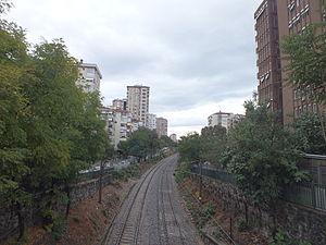 Istanbul–Ankara railway - Looking east from Göztepe, İstanbul.