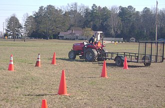 Southern Nash High School - A Southern Nash student participates in the Tractor Driving Career Development event
