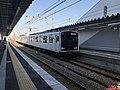 Train for Chikuzen-Maebaru Station at Itoshima-Kokomae Station.jpg
