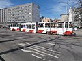 Tram 96 at Viru Stop in Tallinn 29 March 2019.jpg