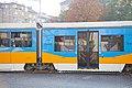 Tram in Sofia near Russian monument 077.jpg