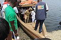 Transport des autorite's en petit Bateau called Pinasse a Abidjan.jpg