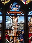 Triel-sur-Seine (78), église Saint-Martin, verrière n° 22, lancette médiane - Christ en croix.JPG