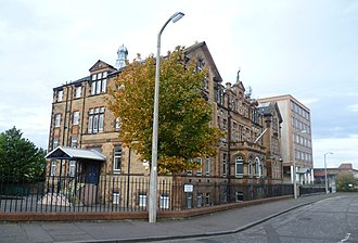 Trinity Academy, Edinburgh - The Trinity Academy complex, showing the original building (left) and the new extension block (far right)