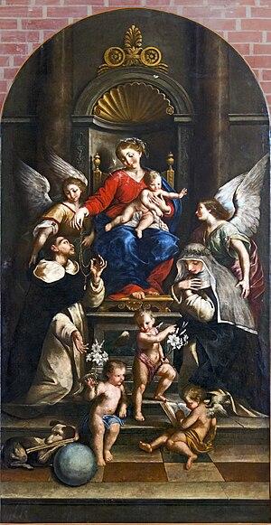 Lorenzo Gramiccia - Madonna del Rosario altarpiece at Santi Giovanni e Paolo, Venice