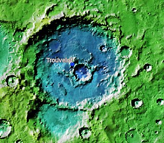 Trouvelot (Martian crater) crater on Mars