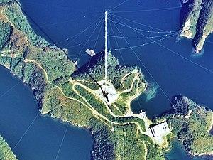 Omega (navigation system) - Image: Tsushima Omega Tower 1977 2