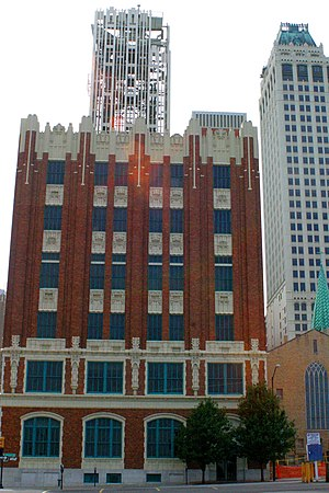 Southwestern Bell Main Dial Building - Southwestern Bell Main Dial Building in 2005, 5th Street and Detroit Avenue, Tulsa.