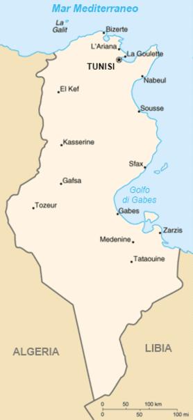 Tunisia - Mappa