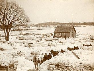 Turner, Maine - Flooding on the Androscoggin River, Turner, 1896