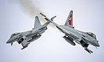 Two Typhoon FGR4 aircraft, flown by 29 (R) Squadron from RAF Coningsby MOD 45164136.jpg