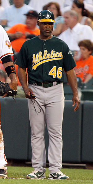 Tye Waller - Waller as first base coach for the Oakland Athletics in 2011