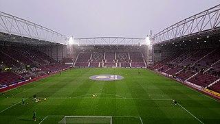 Tynecastle Park Football stadium in Edinburgh, Scotland