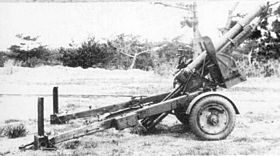 Obusier Type 91 de 105mm en position de batterie