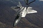 U.S. Air Force F-22 Raptor aircraft prepares to refuel.jpg