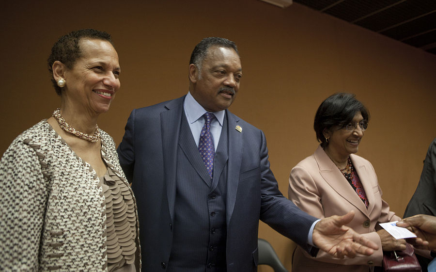 U.S. Ambassador Betty E. King, Reverend Jesse Jackson, High Commissioner Navi Pillay.jpg