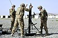 U.S. Army mortar men fire a 120mm mortar during force protection and registration training at Forward Operating Base Spin Boldak in the Kandahar province of Afghanistan on June 22, 2013 130622-A-MX357-030.jpg