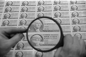 Rationing in the United States - Di Natale ration stamps printed, but not used, as a result of the 1973 oil crisis