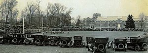 Connecticut Huskies football - The football team plays on Gardner Dow Athletic Fields in 1920.