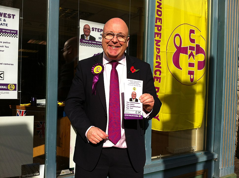 UKIP campaigning in Newport High Street