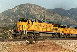 Union Pacific Railroad 9214, a GE Dash 8-40C, ...
