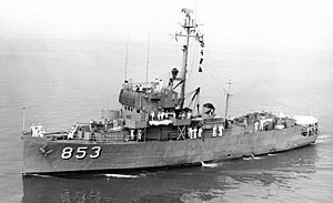 BRP Datu Marikudo (PS-23) - as USS Amherst (PCER-853)