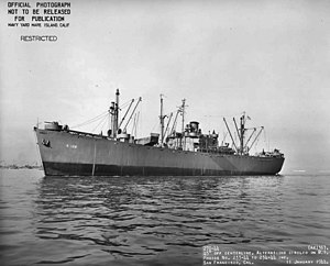 USS Ara (AK-136) - USS Ara (AK-136) off San Francisco, CA., 11 January 1944.