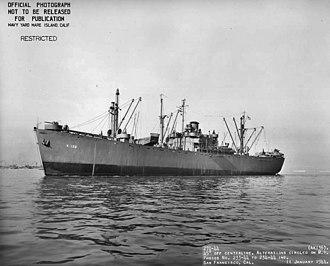 USS Ara (AK-136) - USS Ara (AK-136) off San Francisco, CA., 11 January 1944.