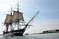 USS Constitution underway, August 19, 2012 by Castle Island.jpg