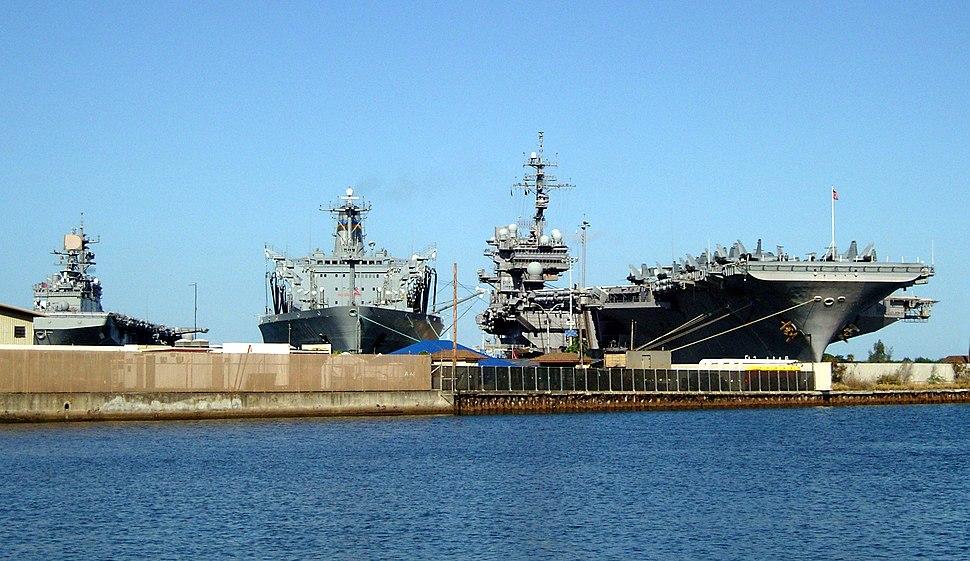 USS Kittyhawk at Pearl Harbor