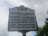 USS North Carolina historic marker IMG 4325