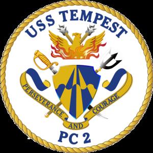 USS Tempest (PC-2) - Image: USS Tempest PC 2 Crest