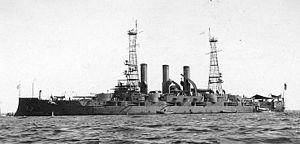 USS Vermont (BB-20) - Vermont following her modernization in 1909