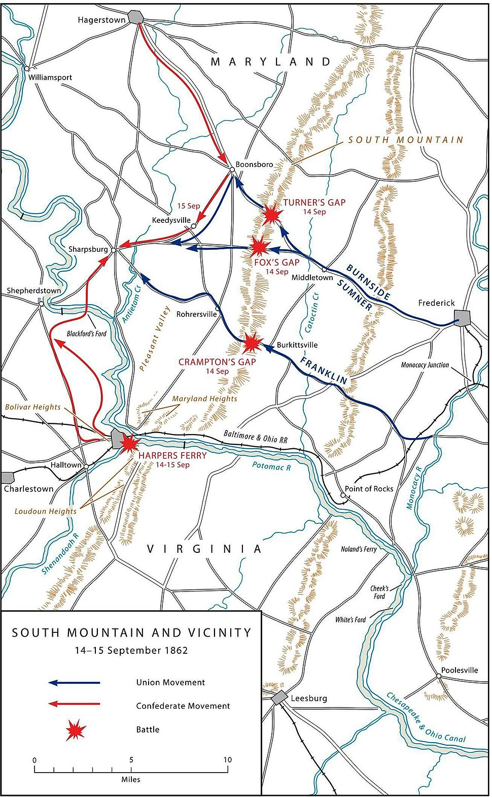 US ARMY MARYLAND CAMPAIGN MAP 2