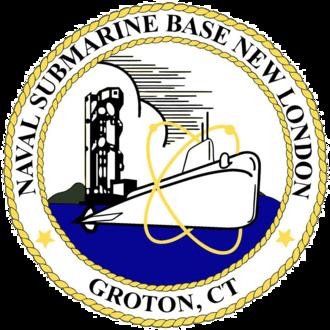 Naval Submarine Base New London - Image: US Naval Submarine Base New London patch