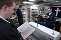US Navy 030305-N-3235P-501 U.S. Navy Lt. S. Skidmore, a U.S. Navy Reserve Chaplain, conducts Ash Wednesday Protestant Worship Services for the crew aboard the guided missile cruiser USS San Jacinto (CG 56).jpg