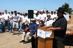 San Pasqual Band of Diegueno Mission Indians - San Pasqual Tribal Chairman Allen Lawson introduces a Habitat for Humanity project on the reservation, 2004