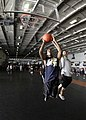 US Navy 050122-N-1229B-146 Sailors aboard USS Abraham Lincoln (CVN 72) participate in a Moral, Welfare and Recreational (MWR) sponsored basketball tournament.jpg