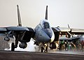 US Navy 050209-N-4308O-040 An F-14B Tomcat launches from the flight deck aboard the Nimitz-class aircraft carrier USS Harry S. Truman (CVN 75).jpg