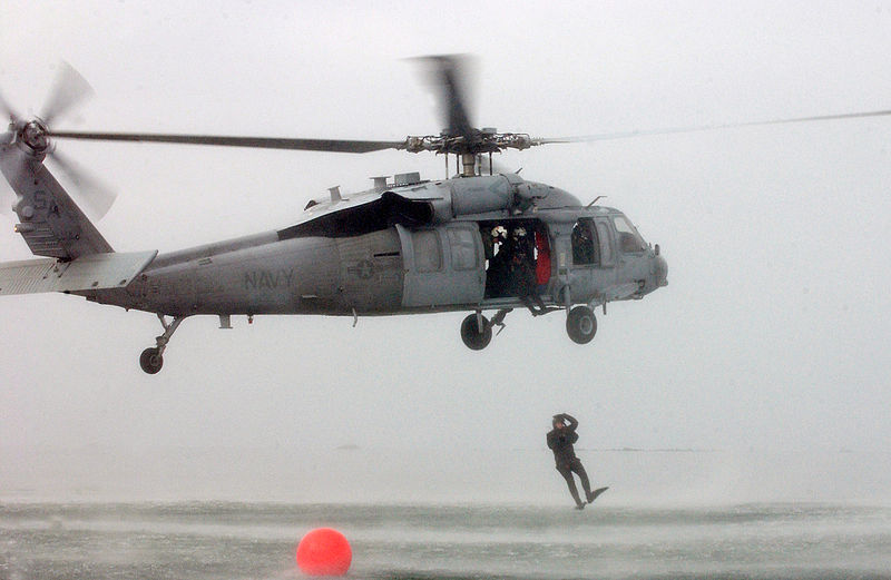 File:US Navy 050413-N-7615S-041 A search and rescue swimmer jumps out of a MH-60S Seahawk helicopter during the Naval Helicopter Association Annual Aircrew competition.jpg