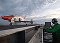 US Navy 050627-N-4308O-034 A T-45A Goshawk trainer aircraft, assigned to Training Air Wing Two (TW-2), launches from the flight deck aboard the Nimitz-class aircraft carrier USS Harry S. Truman (CVN 75).jpg